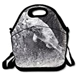 saltando Fox Boys Girls Kids Insulated School Travel Outdoor Thermal waterproof Carrying lunch Tote bag Cooler box neoprene Lunchbox taglia unica Jumping Fox1
