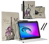 Tablet Tasche für Samsung Galaxy Tab A 7.0 Schutz Hülle Etui Case + Touch Pen - 7 Zoll Paris Blumen 360˚
