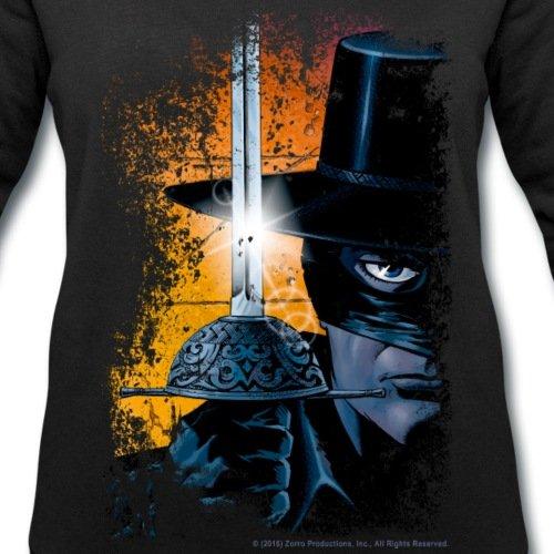 Zorro Masqué Avec Épée Look Usé Sweat-shirt Femme Stanley & Stella de Spreadshirt® Noir