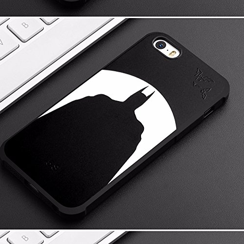 UKDANDANWEI Apple iPhone 5S [QKS] TPU 3D Handyhülle Schutzhülle Silikon kratzfeste stoßdämpfende Case für Apple iPhone 5S - Stil(08) Stil(01)