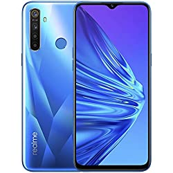 """Realme 5 - Smartphone de 6.5"""", 4GB RAM + 128GB ROM, LCD Multitáctil, procesador Octacore, cuádruple cámara 12MP IA, Dual Sim, Azul (Crystal Blue), [Versión española]"""