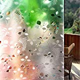 Shackcom S165 Film de fenêtre 3D Autocollant Opaque Brise-Vue Statique adhésif...