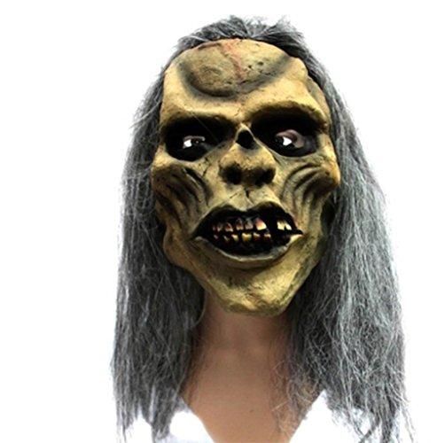 Marcus R Caveggf Super Horror Bar Halloween Grimasse Kopfbedeckung Variation Übelkeit Haut Skelett Auferstehung Zombie Maske (Masquerade Haut Maske Halloween)