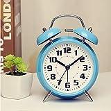 LGLQQ Despertador,Creativo y Lindo Reloj Despertador de Dibujos Animados, Dormitorio Junto a la Cama, niños mudos, Mini Reloj de Mesa Simple