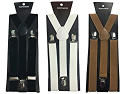 Atyourdoor Y- Back Suspenders for Men(Black, White & Choco Color)