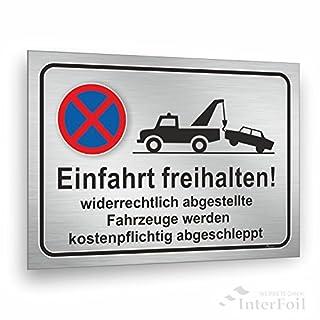 Einfahrt freihalten! Ausfahrt freihalten Schild 30 x 20 cm, stabiles 3 mm Hart PVC Schild für den langfristigen Außeneinsatz, UV beständig