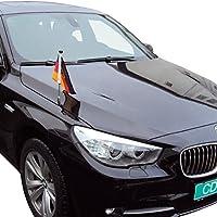 DIPLOMAT-FLAGS Porte-drapeau de voiture Diplomat-Z Allemagne avec blason d autorités publiques