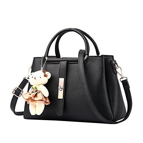 LAIDAYE Womens Weiche Leder Handtaschen Multicolor Schultertasche Reise Totes 4