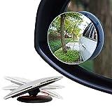 Kayla _ LAN Upgrade 5,1cm Blind Spot Spiegel, 360Grad drehen Sway Adjustabe HD Glas konvex Weitwinkel Rear View Auto SUV Universal Fit Lin