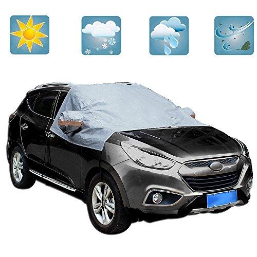 GZQ Windschutzscheiben-Plane, schützt vor Schnee, Sonne, Frost, Eis, mit Haken, Allwetter-Produkt, passend für die meisten Fahrzeuge