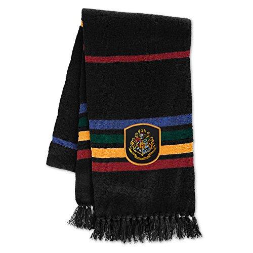 Preisvergleich Produktbild Harry Potter Damen Herren Hogwarts Schal 170cm Elbenwald schwarz