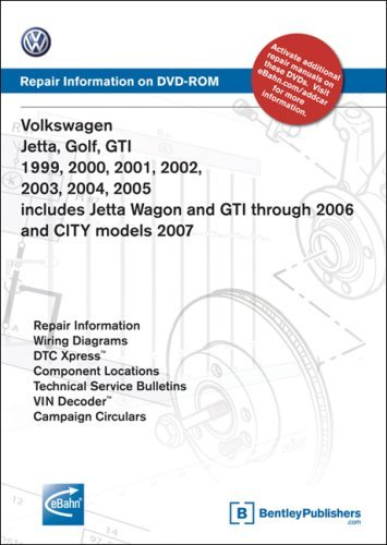 Volkswagen Jetta, Golf, GTI 1999, 2000, 2001, 2002, 2003, 2004, 2005: Repair Manual on DVD-ROM (Windows 2000/XP) by Volkswagen of America (2005-09-02)