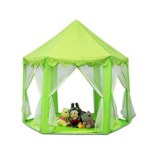 Green Patio-mat (Outdoor Indoor Princess Castle Spielzelte, Shayson Large Playhouse Kids Für Festival Fairy Princess Castle Zelt, neueste Design, extra großes Zimmer (Green Tent))