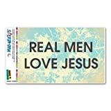 Real Men Love Jesus Religiös, Christian Mag-Neato 's-TM) Automotive Auto Motorhaube Kofferraum Kühlschrank Locker Vinyl Magnet
