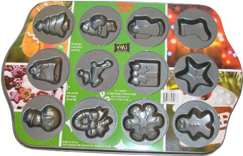 VMI Housewares C-24913 12-Cavity Christmas Cookie Pan by VMI Housewares Christmas Cookie Pan