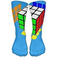 Rubik's Cube World Unisex Performance Crew Socks Protect The Wrist For Cycling Moisture Control Elastic Socks
