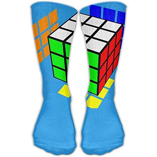 Eybfrre Rubik's Cube World Unisex Performance Crew Socken schützen das Handgelenk beim Radfahren, Feuchtigkeitskontrolle, elastisch, 30 cm -