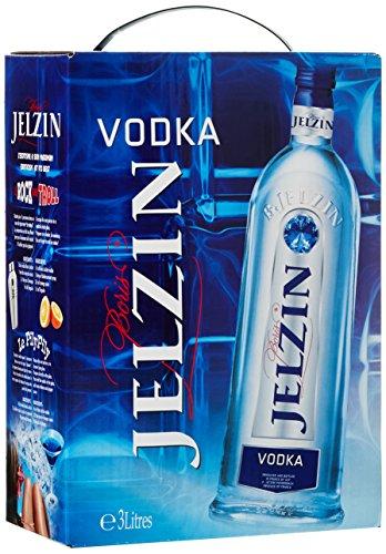 Liter Quellwasser (Jelzin Vodka BaginBox (1 x 3 l))
