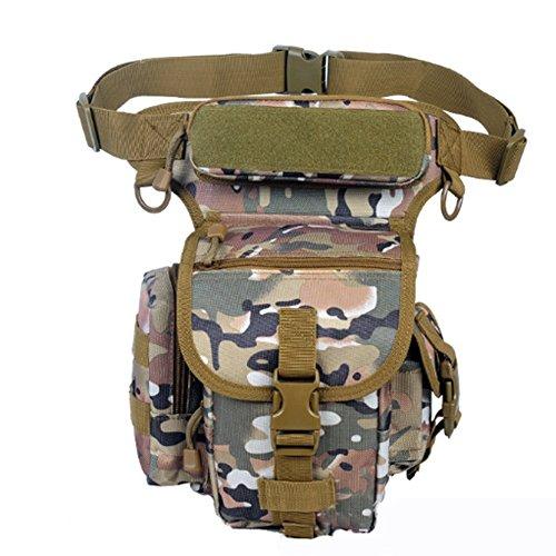 YAAGLE Beintasche wasserdicht Nylon Hüfttasche herren sport Beinbeutel multi Oberschenkeltasche Militär Tropfen Bein Schenkel Bag Tarnung 3