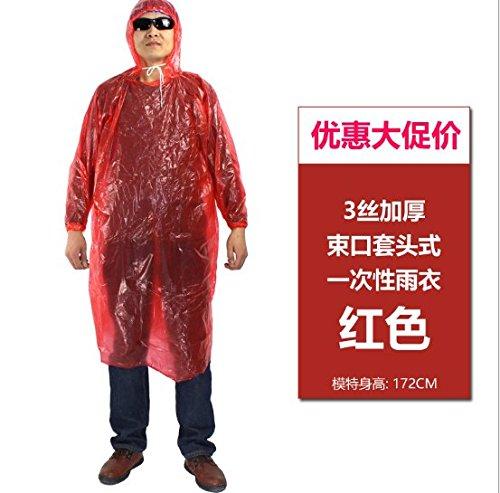 kamoku101leggero per adulti emergenza impermeabile con cappuccio Poncho da pioggia USA e getta per campeggio, (Leggero Pioggia Poncho)