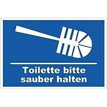 Suchergebnis Auf Amazonde Für Wc Sauber Halten Schild