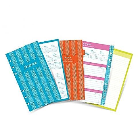 Filofax Kalendereinlage Personal: Illustrated Diary Pack Jahres Set 2018 Stripes
