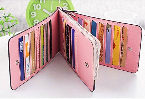 Borsa di cuoio reale della borsa della borsa della borsa del cuoio reale delle signore delle donne nuovo, borsa di viaggio di cuoio di lusso (bianco) Rosa