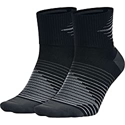Nike 2Ppk Running Dri-Fit Ligh Pack 2 Pares Calcetines, Hombre, Negro (Black / Anthracite / Anthracite), L
