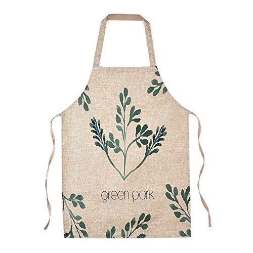 fablcrew Tablier en coton et lin avec motif à feuilles pour enfants Size 40 x 48 cm
