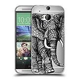 Head Case Designs Offizielle Bioworkz Elefant Verziert 2 Tierwelt 2 Soft Gel Hülle für HTC One M8 / M8 Dual SIM