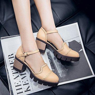 LvYuan Da donna-Sandali-Ufficio e lavoro Formale Casual-Comoda-Quadrato-Finta pelle-Nero Grigio Beige beige