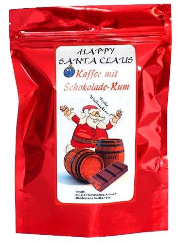 Aromakaffee - Aromatisierter Kaffee - Happy Santa Claus Schoko-Rum - Gemahlen 500g - Spitzenkaffee -...