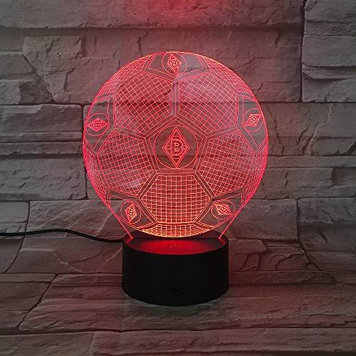 Lampe Geschenk-set (DDBBhome VFL 3D Heimlicht Fußball Club Borussia LED Tischlampe FC Fußball Nachtlicht 3D Licht Für Zimmer Luminaria Lampe Mönchengladbach)