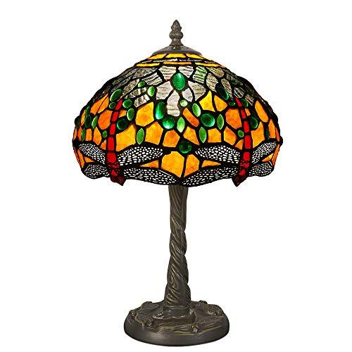 Nachttischlampen tischlampe dragonfly glas im tiffany-stil handwerk GD10123