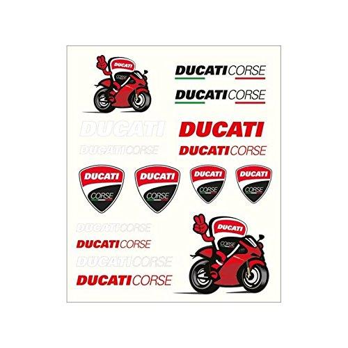 ae29fde050de Pritelli 1856011 Juego Pegatinas Stickers Ducati Corse, Mediano