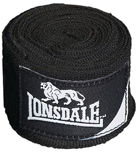 Lonsdale Erwachsene Stretch Mexican Boxen Verband, schwarz, M, 402038