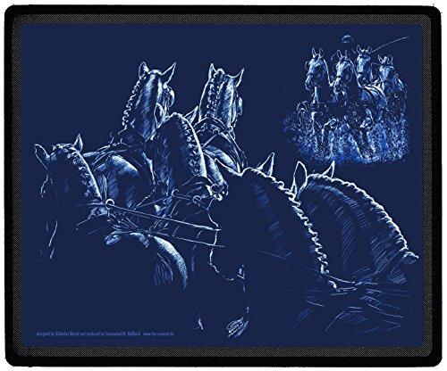 """Preisvergleich Produktbild EYECATCHER für den Schreibtisch Mauspad Mousepad mit Pferdemotiv """"LIGHTLINE FAHRSPORT Gespann Pferde"""" NEU (22676) Kollektion Bötzel"""