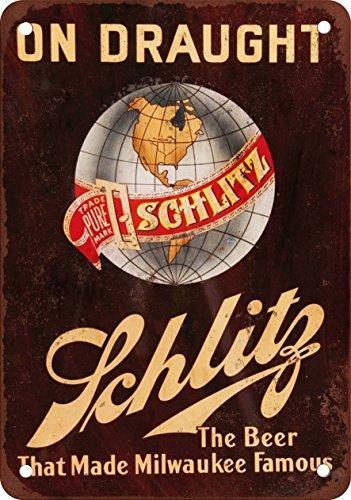 metal Signs Schlitz auf Bier Vintage Look Reproduktion Metall blechschild 30,5x 45,7cm -
