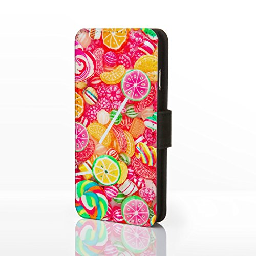 Sweet Shop Collection simili cuir flip Cases pour iPhone modèles. Vintage classique Bonbons, barres de chocolat, DE Biscuits et crème glacée, Cuir synthétique, Design 7: Chocolate Bar, iPhone 5C Design 8: Pick & Mix