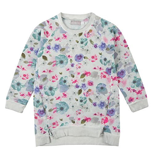 Bóboli Mädchen Kleid Fleece Dress For Girl, Mehrfarbig (Print 9303), 140 (Herstellergröße: 10)