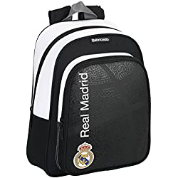 Real Madrid - Basket, mochila mediana 34 cm (Safta 611674006)