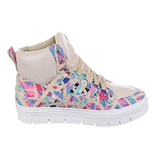 Ital-Design , Chaussures pour les loisirs  femme Beige - Beige