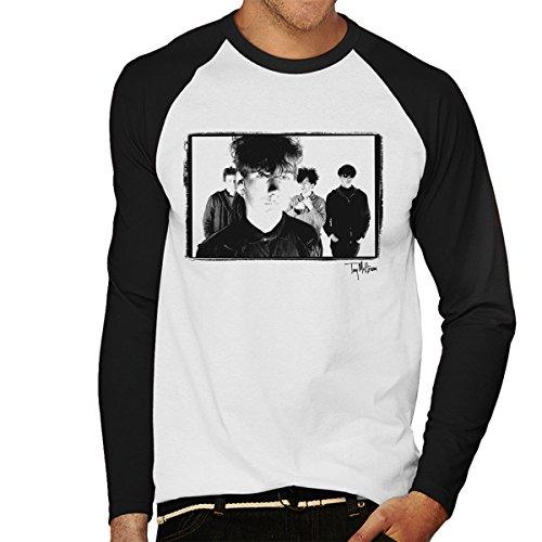 Tony Mottram Official Photography - Jesus And Mary Chain Band Shot Jim Reid Close Up Men's Baseball Long Sleeved T-Shirt
