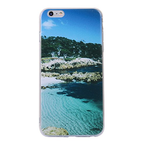 iphone 6/6s Handyhülle,iphone 6/6s Silikon Hülle,Cozy Hut 3D Handyhülle Muster Case Cover Für iphone 6/6s Liquid Crystal Ultra Dünn Crystal Clear Transparent Handyhülle Soft Cover Premium Anti-Scratch Landschaft