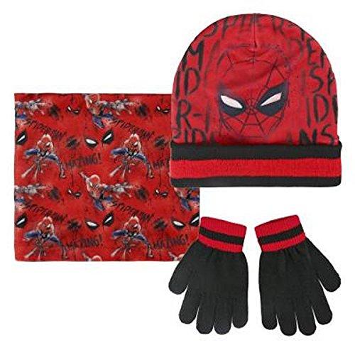 (Cerdá Jungen Mütze, Schal & Handschuh-Set 2200002542, Rot (Rojo 001), One Size (Herstellergröße: Única))