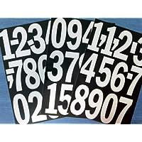 Pack de 88.9x10.2cm (100mm) Vinilo Blanco Adhesivo números , autoadhesivo , adhesivo , Corte en forma de , impermeable números para letreros, vehículos, barcos, pósters & proyectos de escuela