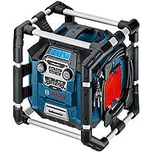 Bosch GML 20 - Radio (AM, FM, 87.5 - 108 MHz, 531 - 1602 kHz, 20W) Negro, Azul, Gris, Rojo