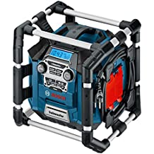 Bosch Professional GML 20 Akku-Baustellenradio, 20 Watt Nennleistung, USB, SD, 2x Aux-In, Aux-Out, 12 V Steckdose