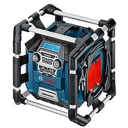 Bosch Professional Akku Baustellenradio GML 20 (20 Watt, USB, SD, 2x Aux-In, Aux-Out, 12 V DC Strombuchse, im Karton)