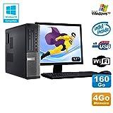 Pack PC DELL Optiplex 3010 DT G640 2.8 GHz 4GB 160GB DVD WIFI Win XP + Bildschirm 17 (Generalüberholt Zulässig)